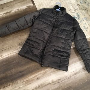 Ralph Lauren Charcoal Gray Puffer Jacket.